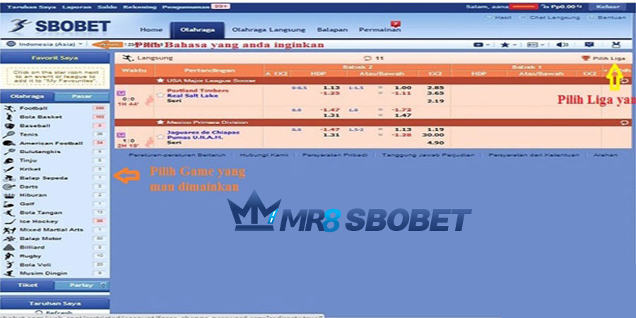 Panduan Bermain Sbobet Bola Lengkap | Mr8sbobet |